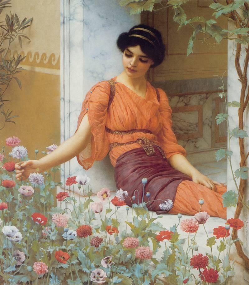 欧洲古典美女油画 欧洲古典人物油画 高清图片